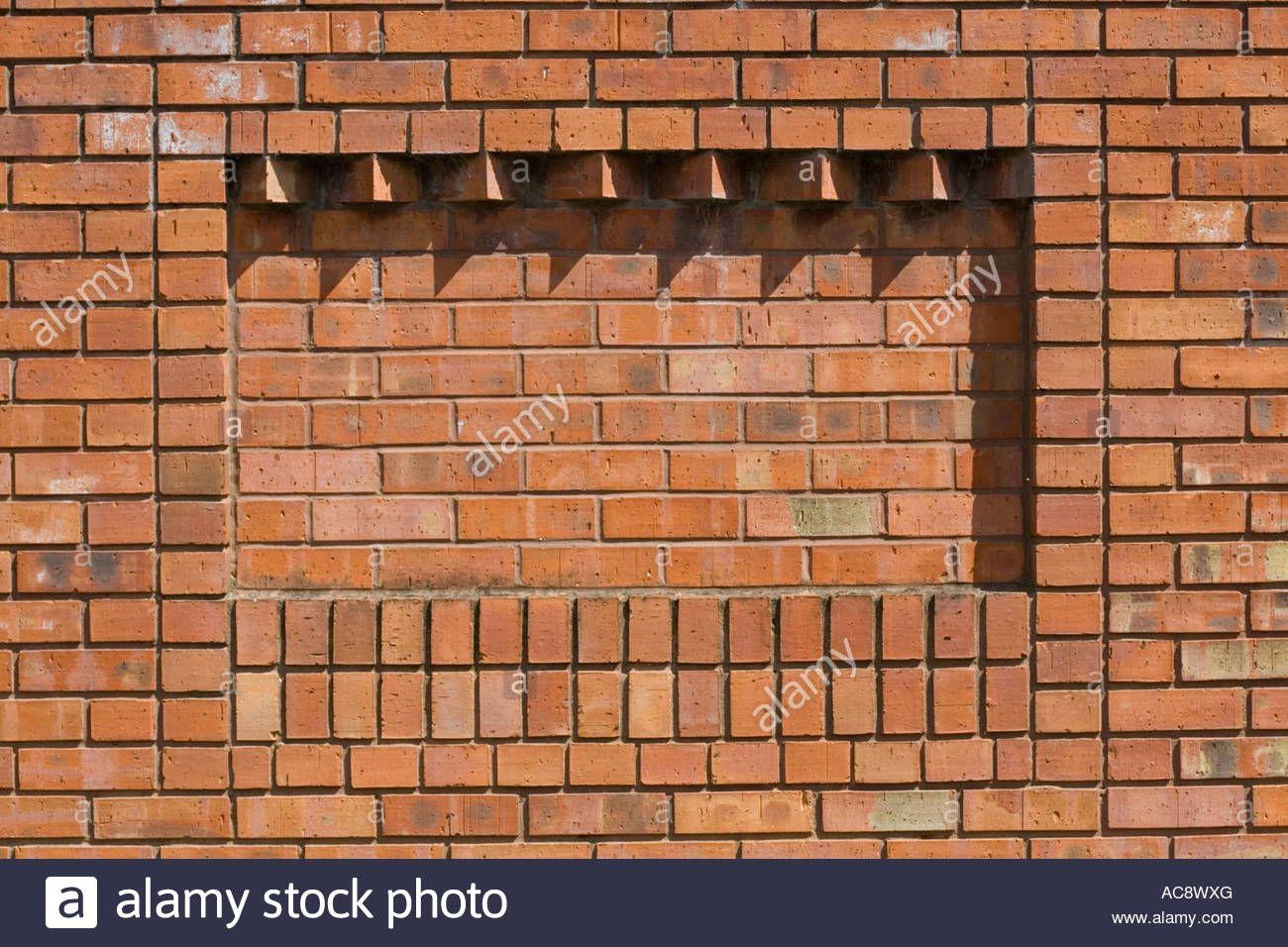 Corbelling In Brickwork Providing Relief Pattern On Red Brick Wall Ac8wxg Jpg 1300 956 Red Brick Walls Corbels Brick Wall