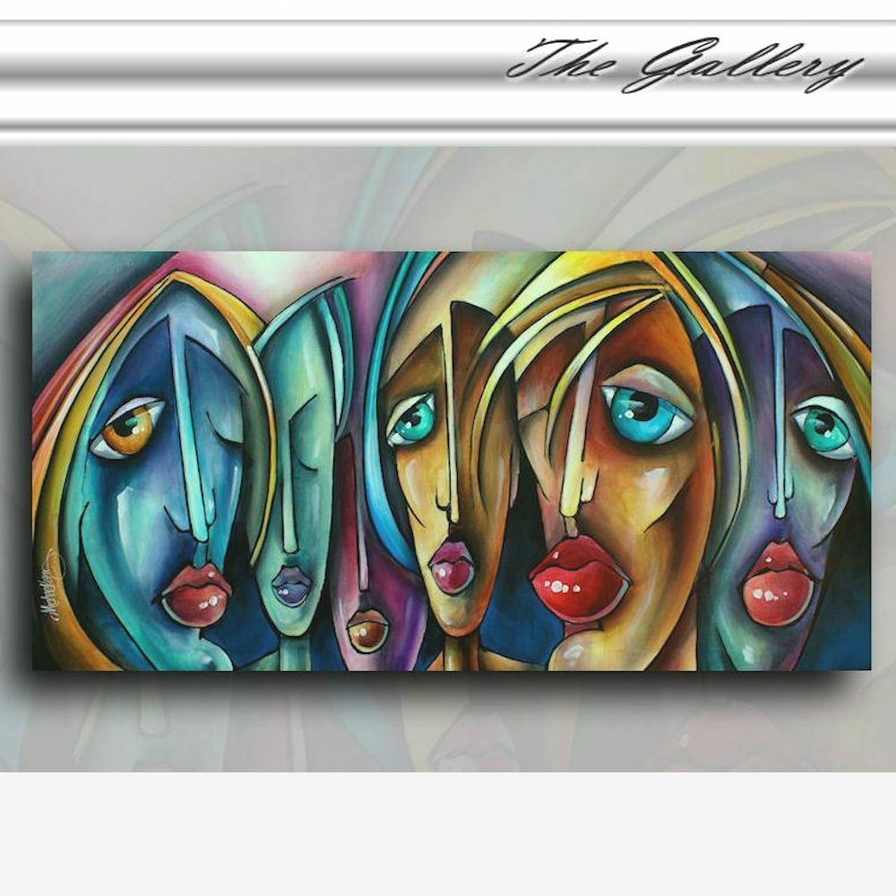 Contemporary art deco painting giclee canvas print michael