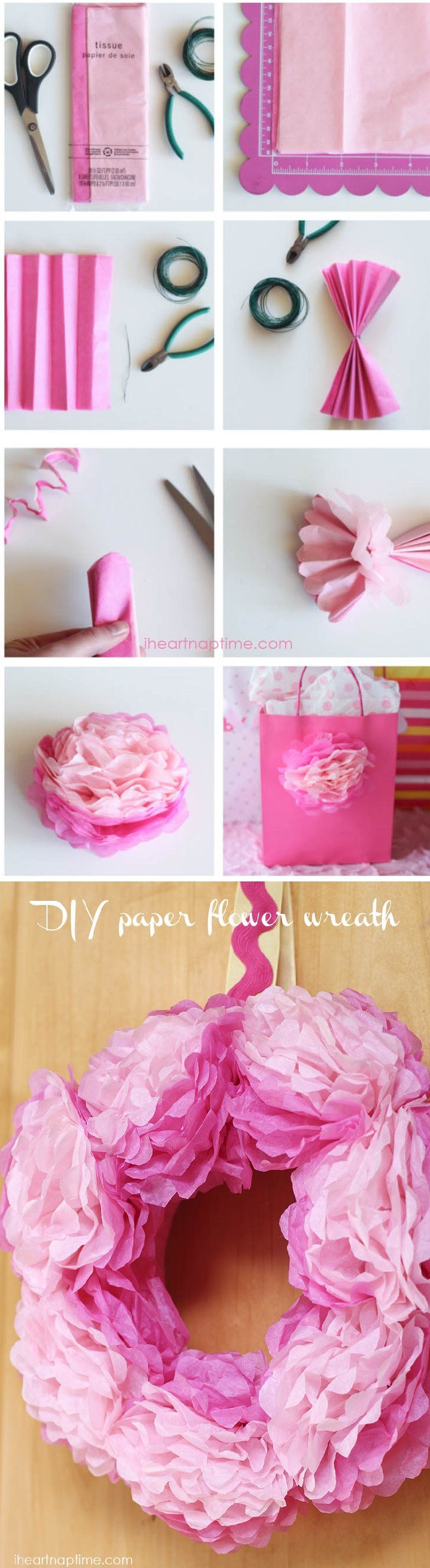 How To Make Tissue Paper Flowers Creative Ideas Pinterest