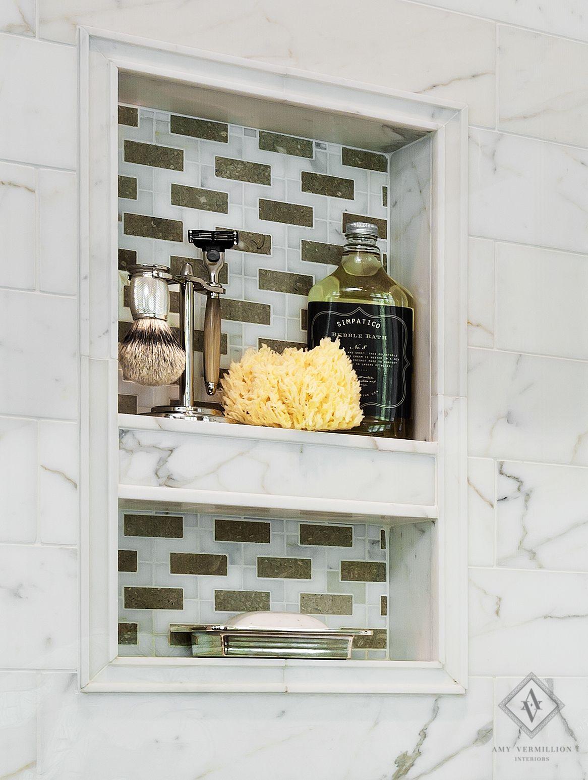 Marble Shower Niche- Bathroom by Amy Vermillion   Amy Vermillion ...