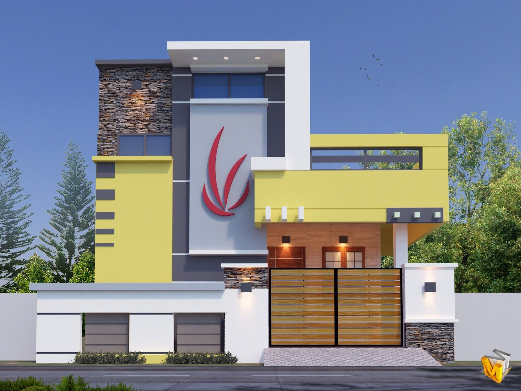 Pin By Rd Verma On Architecture Elevation Small House Elevation Design Small House Elevation Modern House Exterior