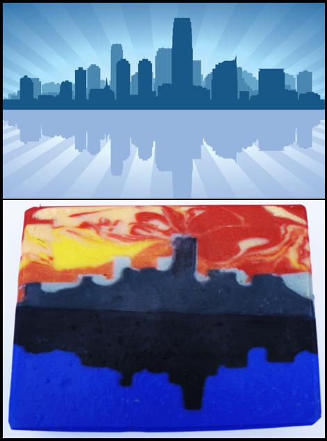 city skyline reflection saponista