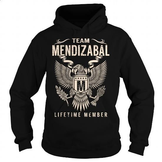 Team MENDIZABAL Lifetime Member - Last Name, Surname T-Shirt - #small gift #shirt diy