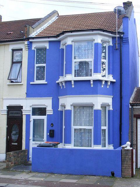Cobalt Blue Victorian Terraced House Plaistow E13 House Exterior Blue Victorian Terrace House Victorian Terrace
