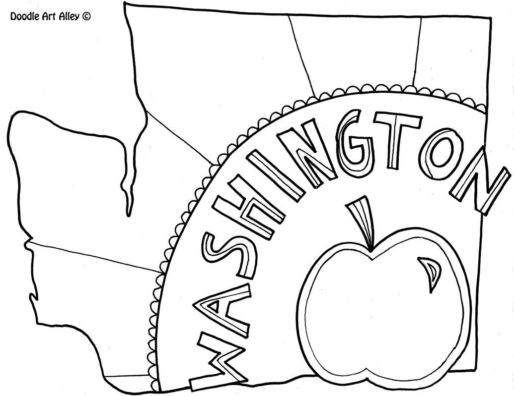 Washington Coloring Page By Doodle Art Alley Doodle Coloring