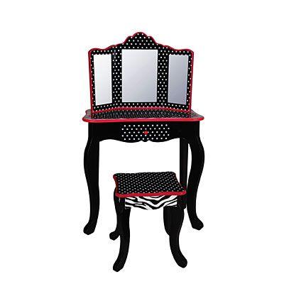 home decor kid 39 s patterned 2 piece vanity set biglots biglots christmas like crazy. Black Bedroom Furniture Sets. Home Design Ideas