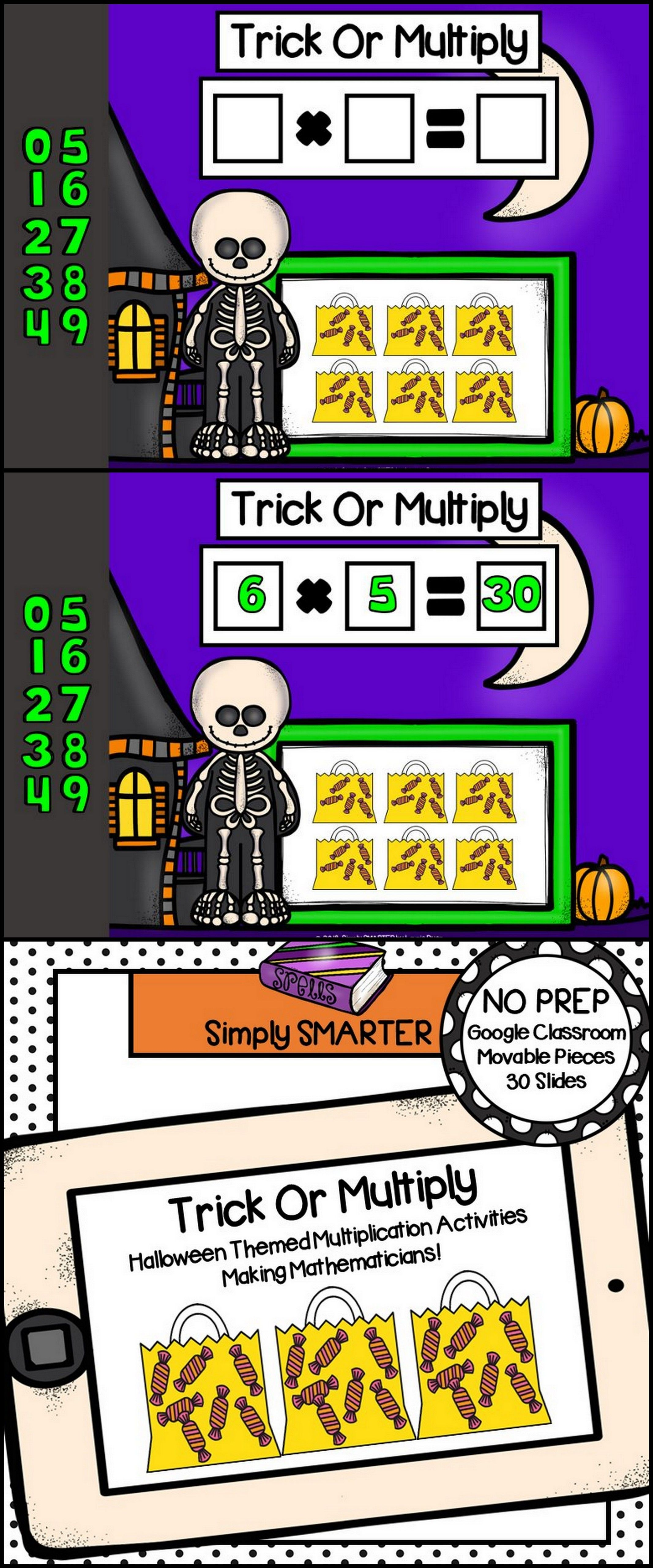 Halloween Themed Multiplication Activities For