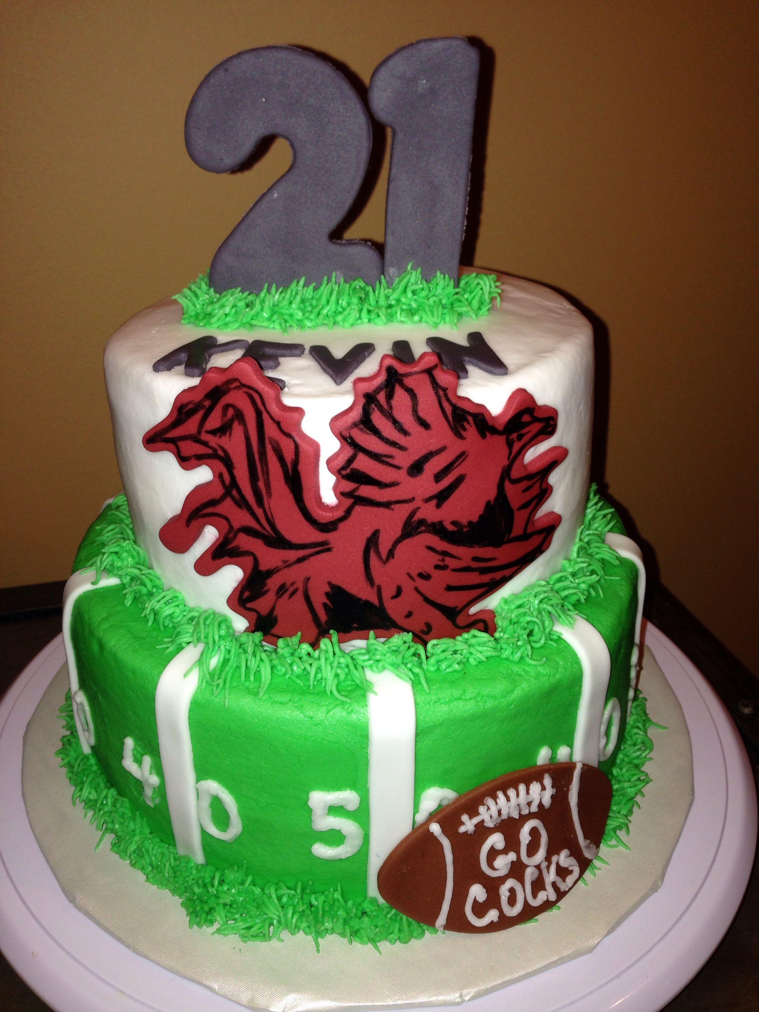 Two Tier Gamecock Cake Birthdays Pinterest Cake Birthday Cake