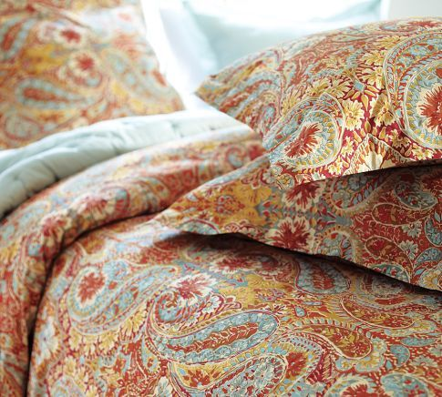 Pin By Jenny Sharp On For The Home Paisley Bedding Pottery Barn