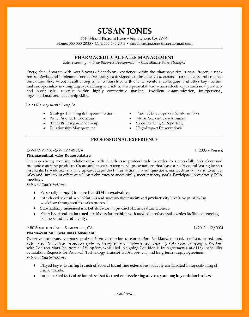 Pharmaceutical Sales Rep Resume High Class 12 13