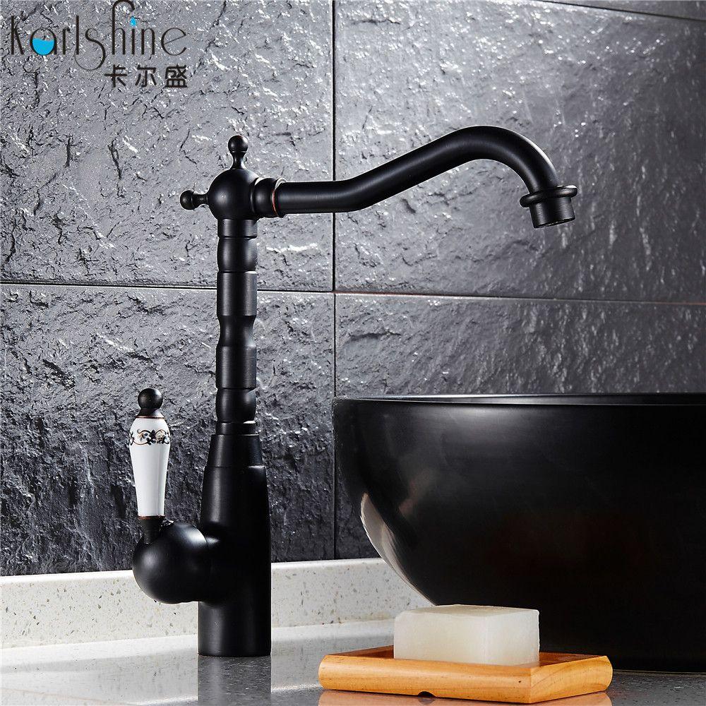 Brass Bathroom&kitchen Sink Basin Faucet Black Antique Brass Retro ...