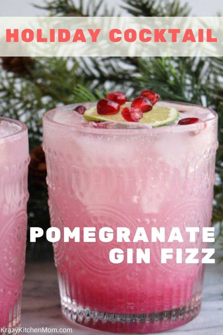 Pomegranate Gin Fizz Cocktail Recipe Gin Fizz Pomegranate Gin Gin Fizz Cocktail