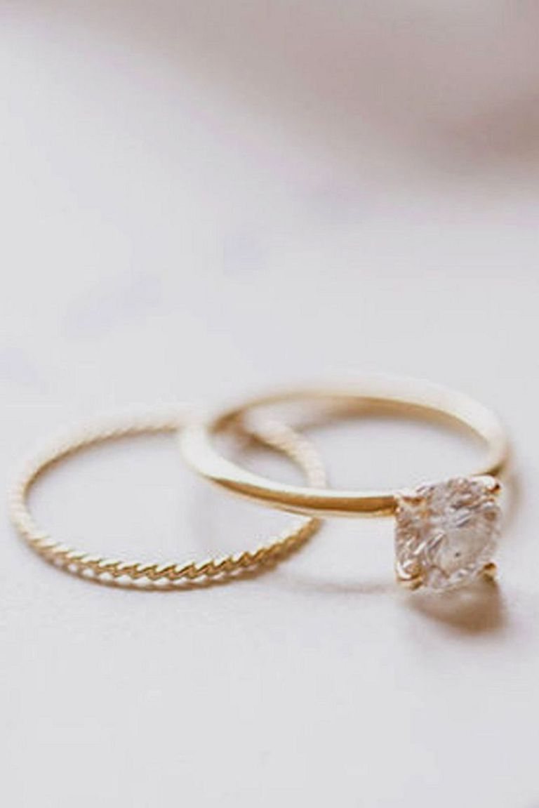 Simple Rose Gold Engagement Ring
