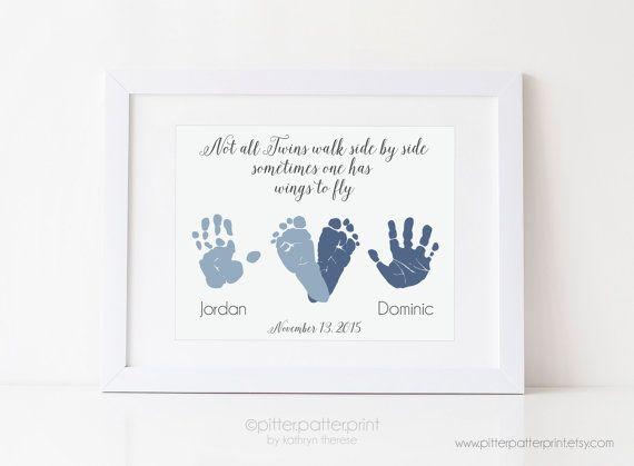 Memory Abdruck-Set 30 # Erinnerung Baby Geburt # Geschenk # Hand und Fußabdruck
