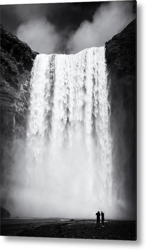 Waterfall in iceland black and white canvas print for sale wonderful skogafoss falls in southern iceland black and white artwork with stark contr