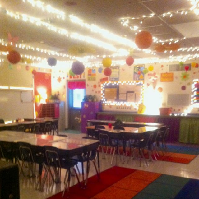 Classroom Lighting Design ~ Classroom decorating ideas i like lots of lights and