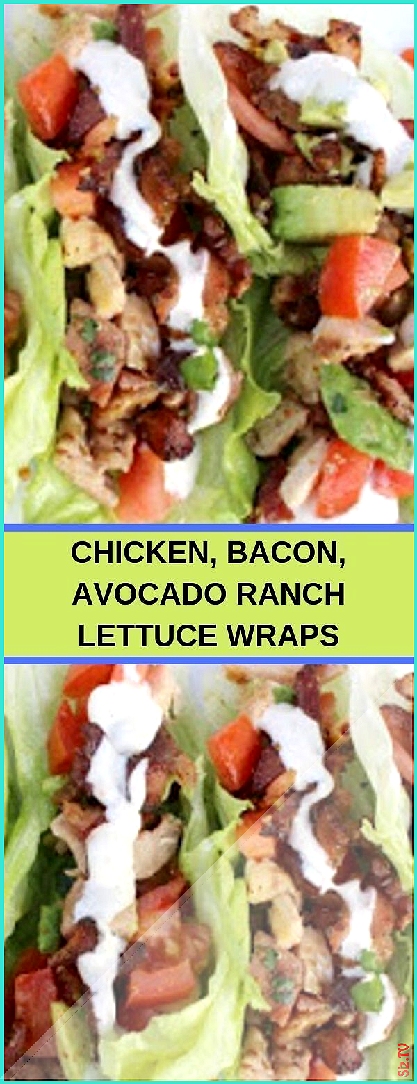 CHICKEN BACON AVOCADO RANCH LETTUCE WRAPS salad Easy Recipes avocadoranch CHICKEN BACON AVOCADO RAN