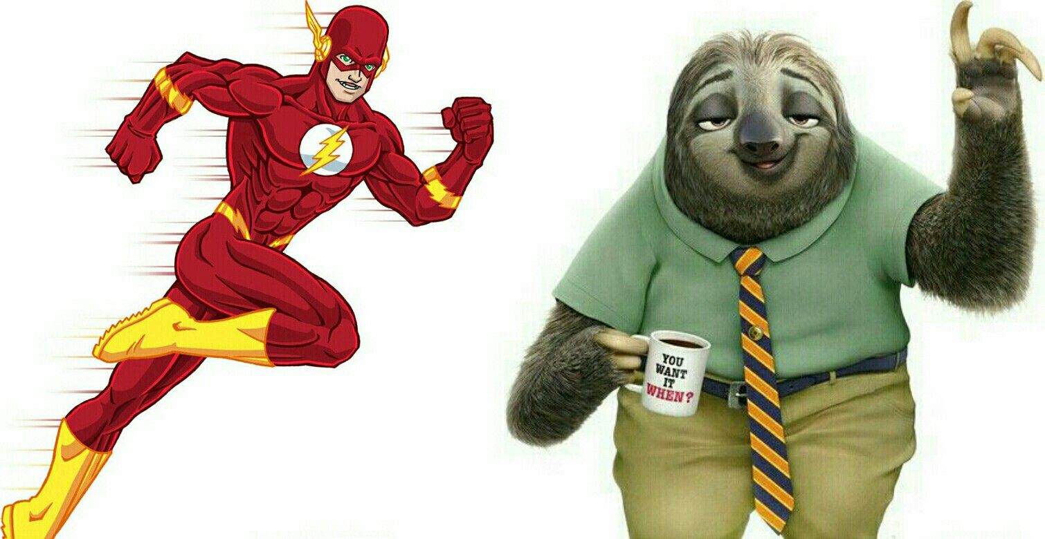 Flash Superhero Sloth Zootopia Characters