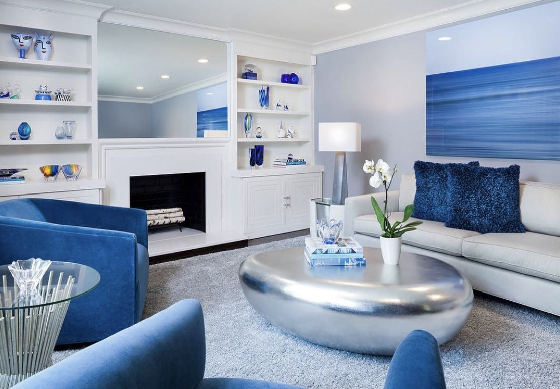 Majestic Blue And White Living Room Decor Blue And White Living Room White Living Room Decor White Living Room