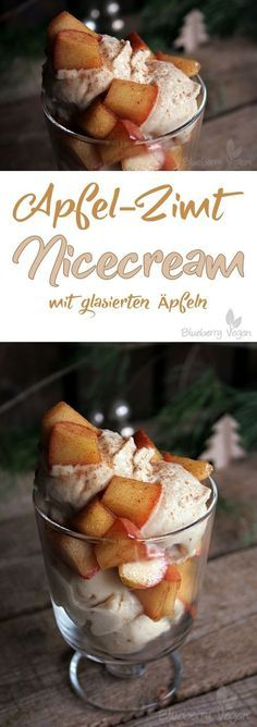 Photo of Apple and cinnamon nicecream with glazed apples