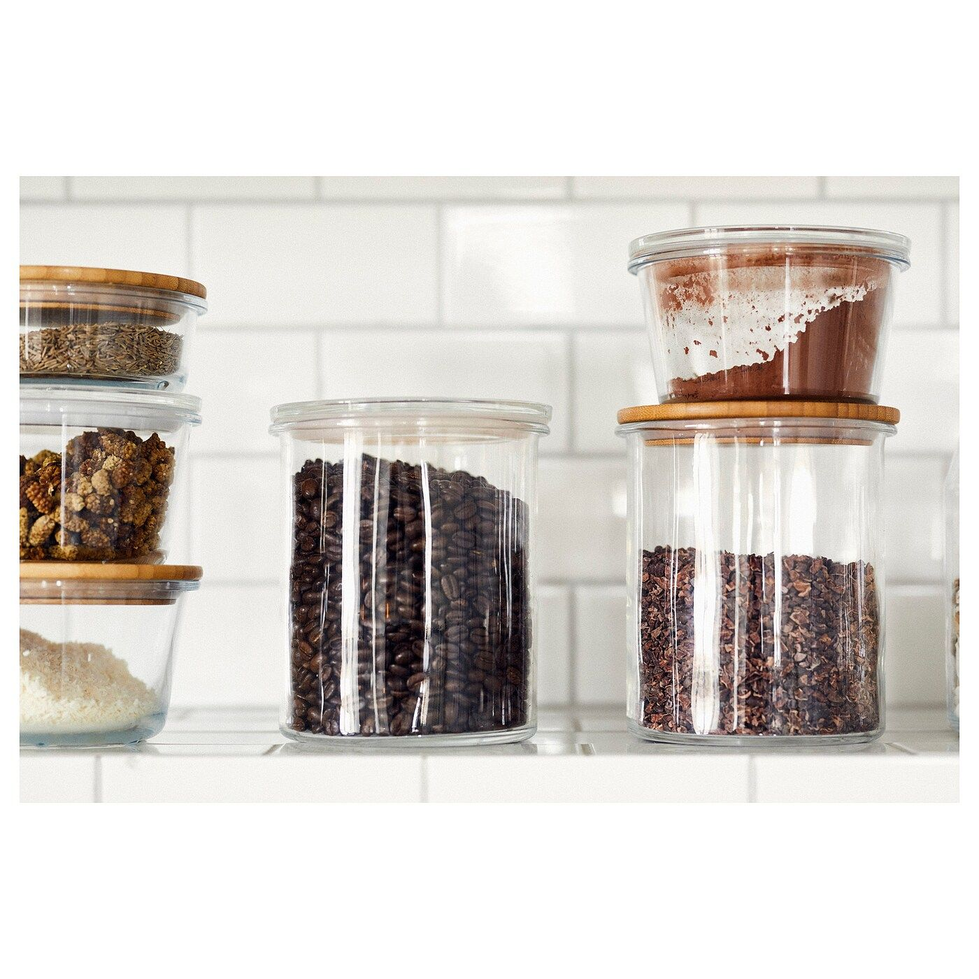 365 Jar With Lid Glass Bamboo 57 Oz In 2020 Glass Jars With
