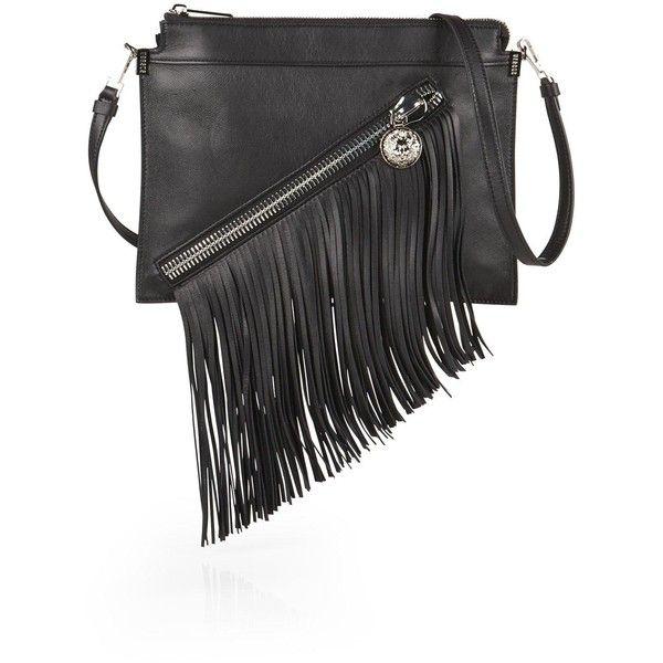 Versus fringed handbag - Black IdRTAJL1T