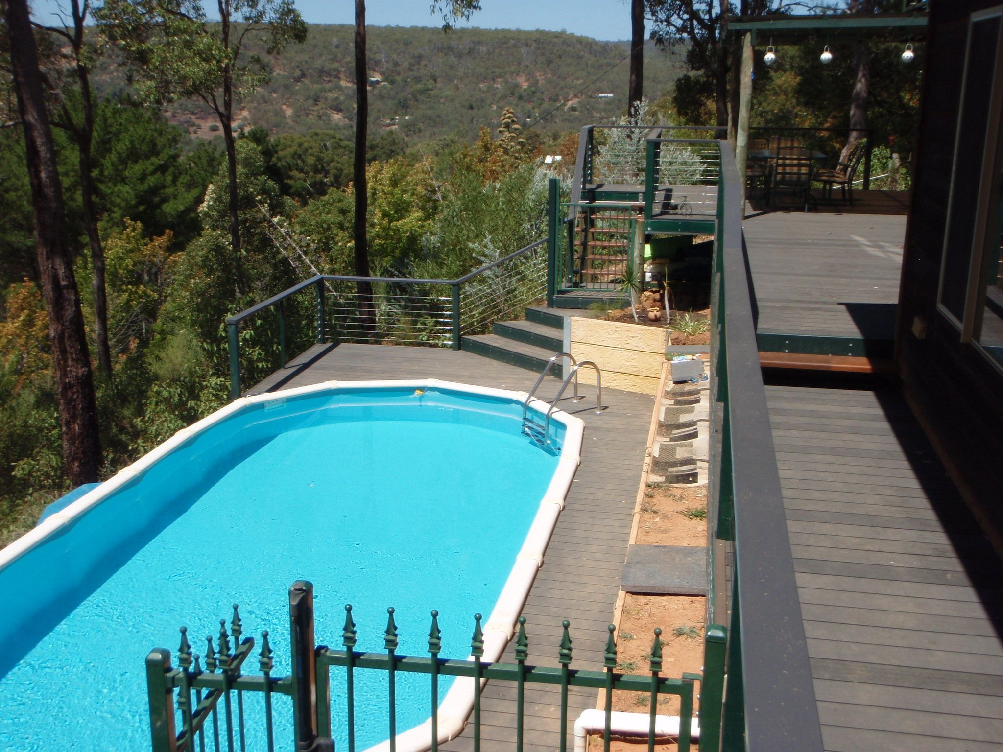 Above Ground Pools In The Hills Perfect For Sloping
