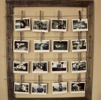 love this- a friend did this and its a really cute way to display multiple pictures without a billion frames
