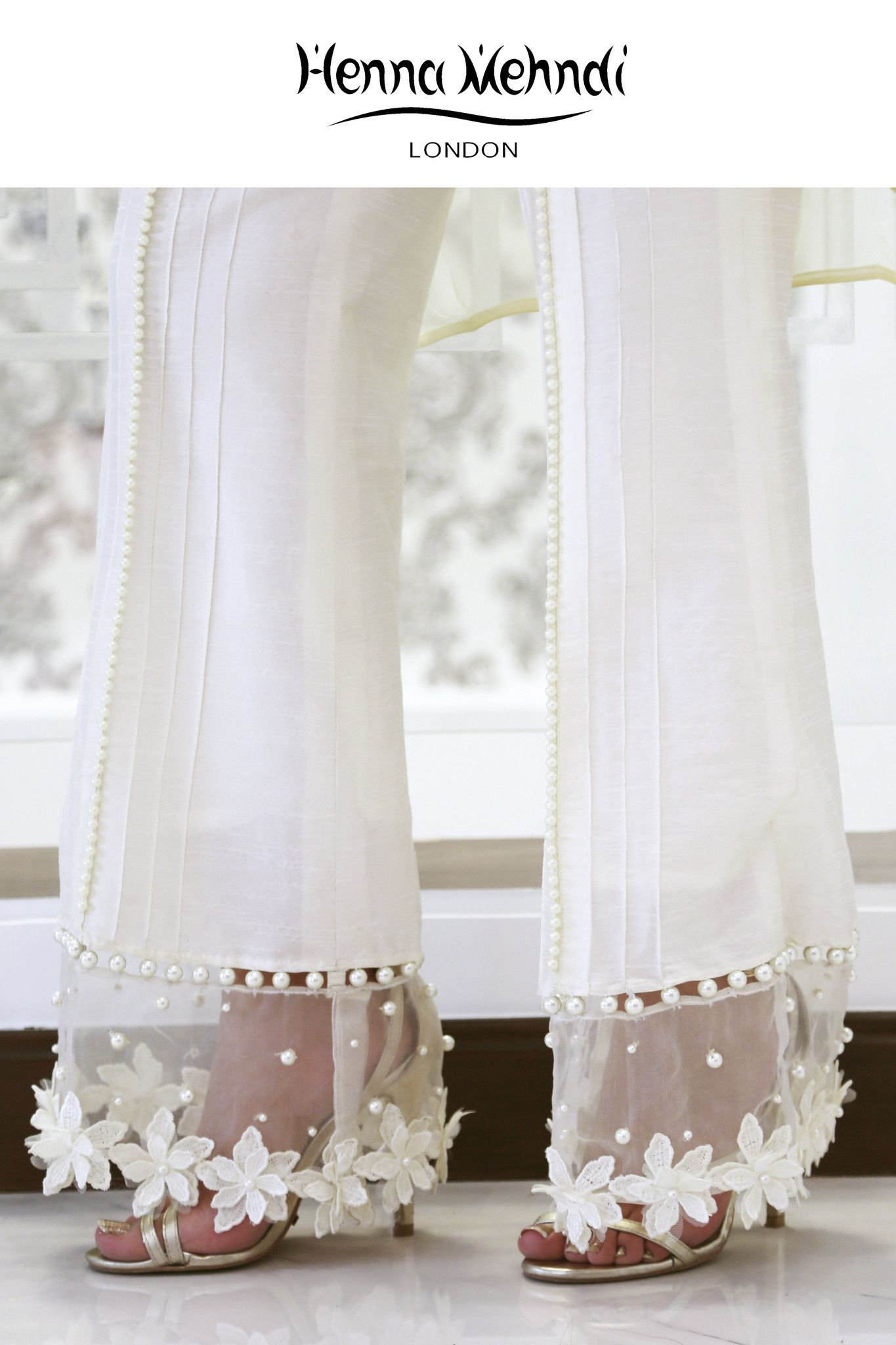 White Embellished Trousers | Sewing patterns | Pinterest | Μόδα ...