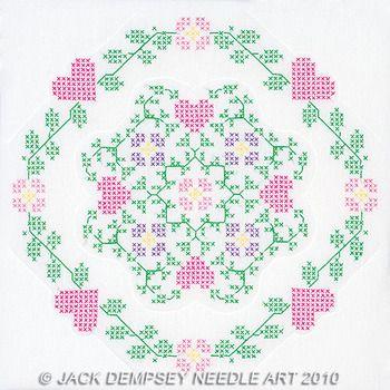 Cross stitch quilt block