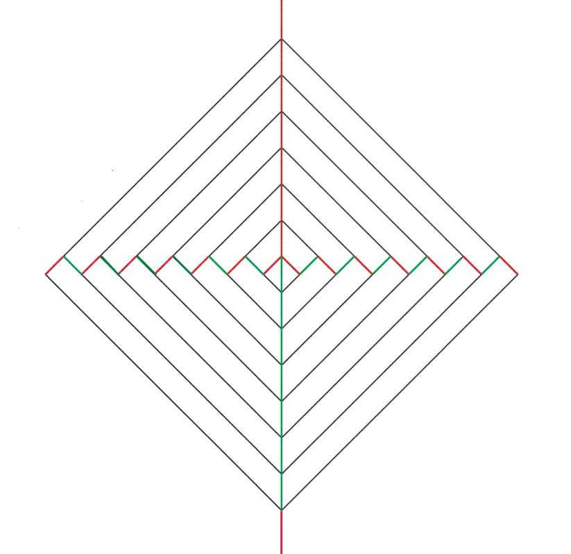 Крутящаяся открытка-киригами, днем
