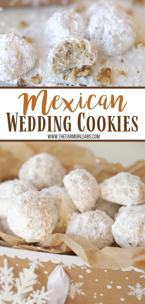 Mexican Wedding Cookies Snowball Cookies Mexican Wedding Cookies Recipes Easy Cookie Recipes Mexican Wedding Cake Cookies