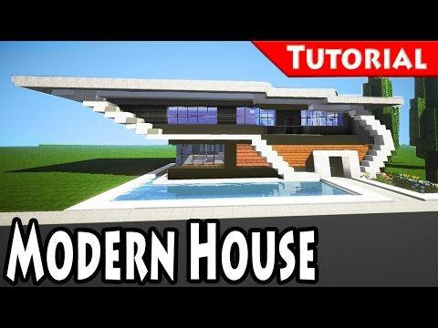 Minecraft How To Build A Modern Redstone House Tutorial Download Youtube Modern Minecraft Houses Minecraft Redstone House Minecraft Modern