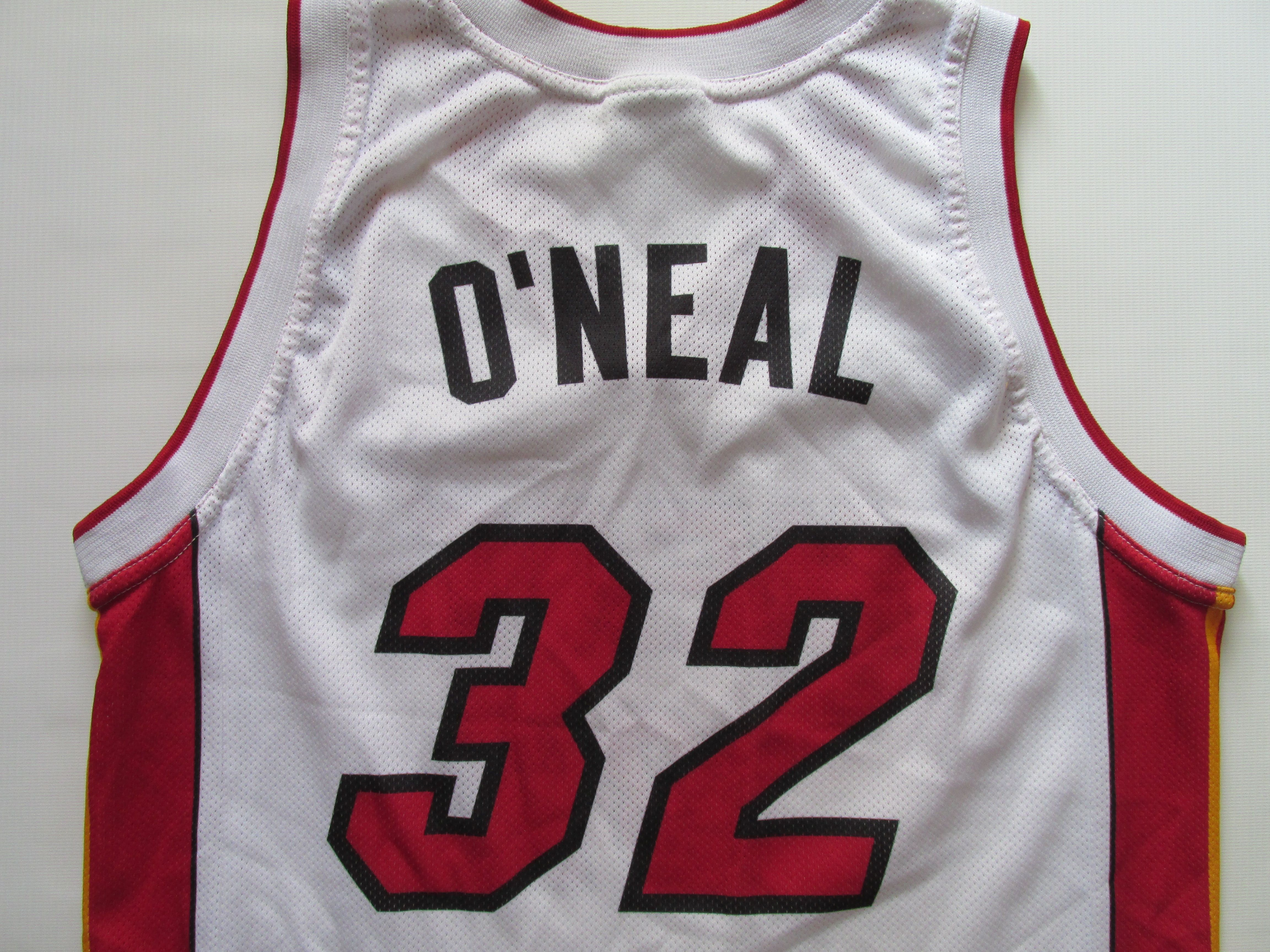 NBA Miami Heat  32 Shaquille O Neal basketball jersey by Champion USA  basket shirt  USA  nba  Oneal  Shaq  champion  miami  Heat  jersey c0c198365