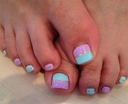 Easy Cute Toe Nail Art Designs Mani Pedi Designs Cute Toe Nails