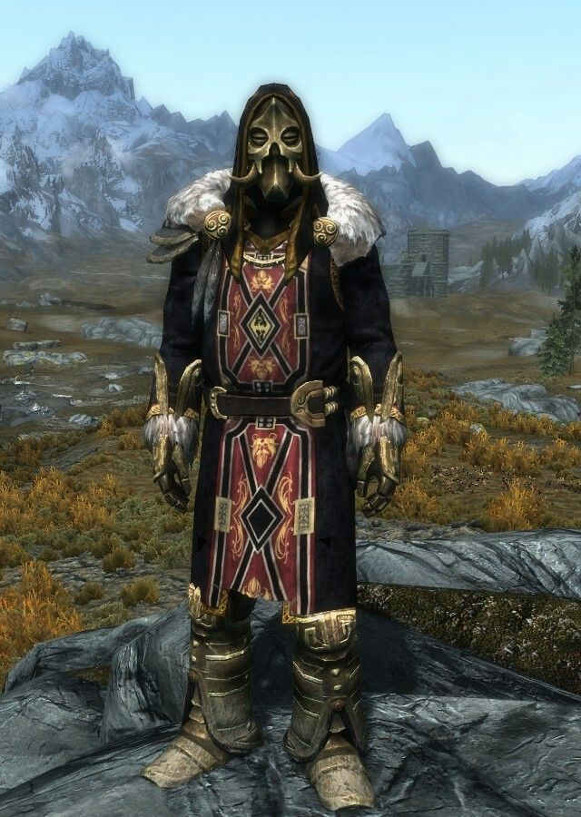 Dragon Emperor By Sillylily Emperor S Clothes Dwarven Gauntlets Boots Konahrik S Mask Elder Scrolls V Skyrim Skyrim Armor Elder Scrolls Skyrim