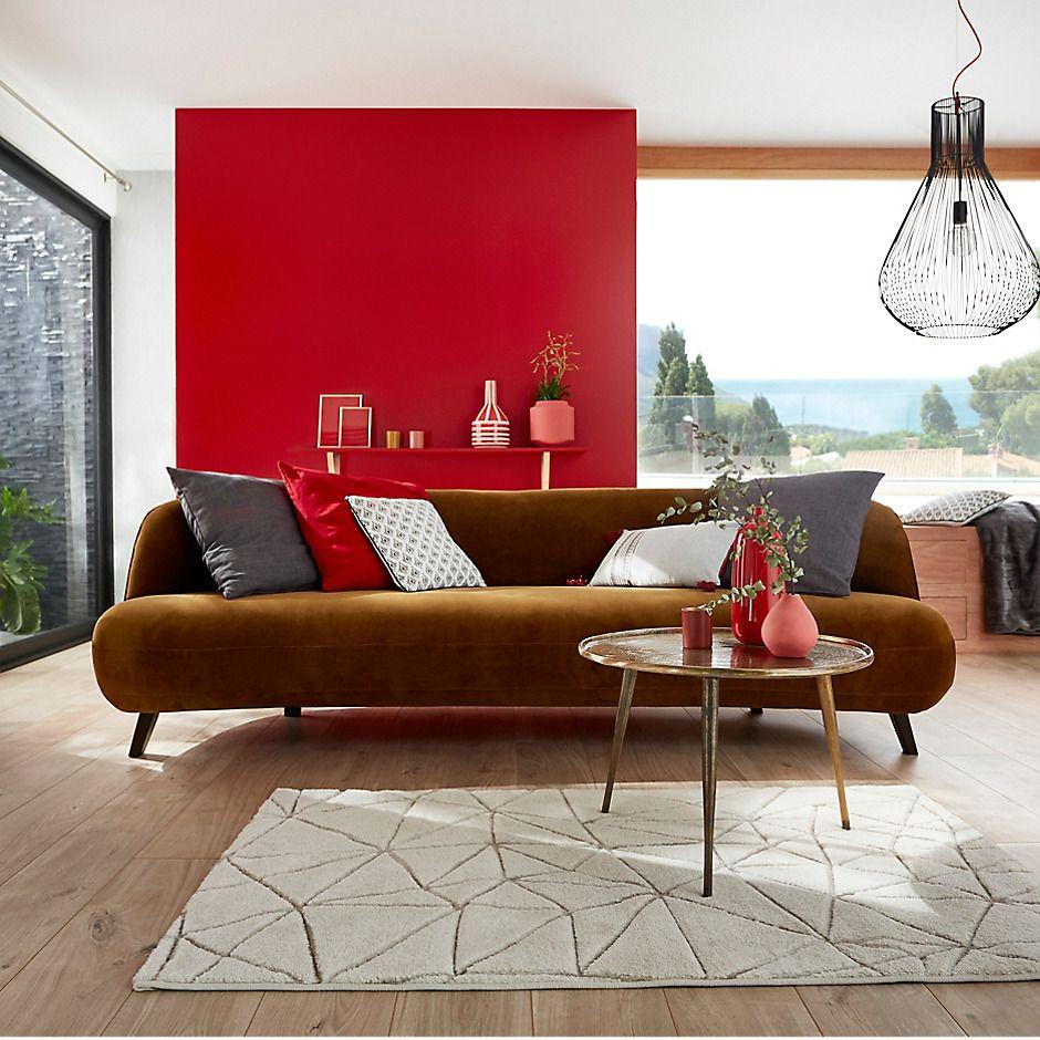 Carrement Tendance Castorama Salons En Cuir Deco Rouge Mobilier De Salon