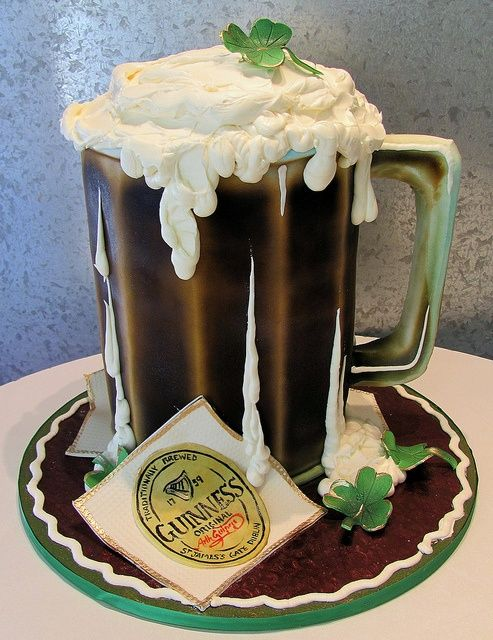 Guinness Cake as a grooms cake. What man wouldn't jump for joy when he saw this! #wedding #cake #groom