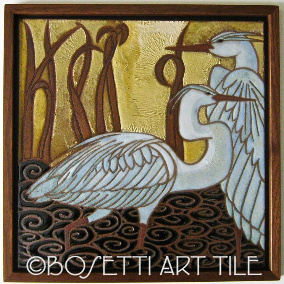 Decorative Tile Art Marina Bosetti Fine Tile Artist #art #tile #home  Artany