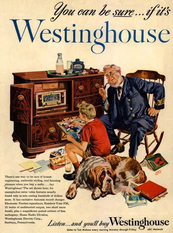 Westinghouse Time Capsules: Westinghouse Cabinet Stereo Ad.