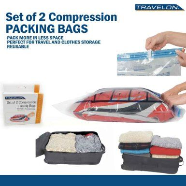Travel Compression Bags X 2 Ng Clear Travelon Roll Up Storage Save Clothing