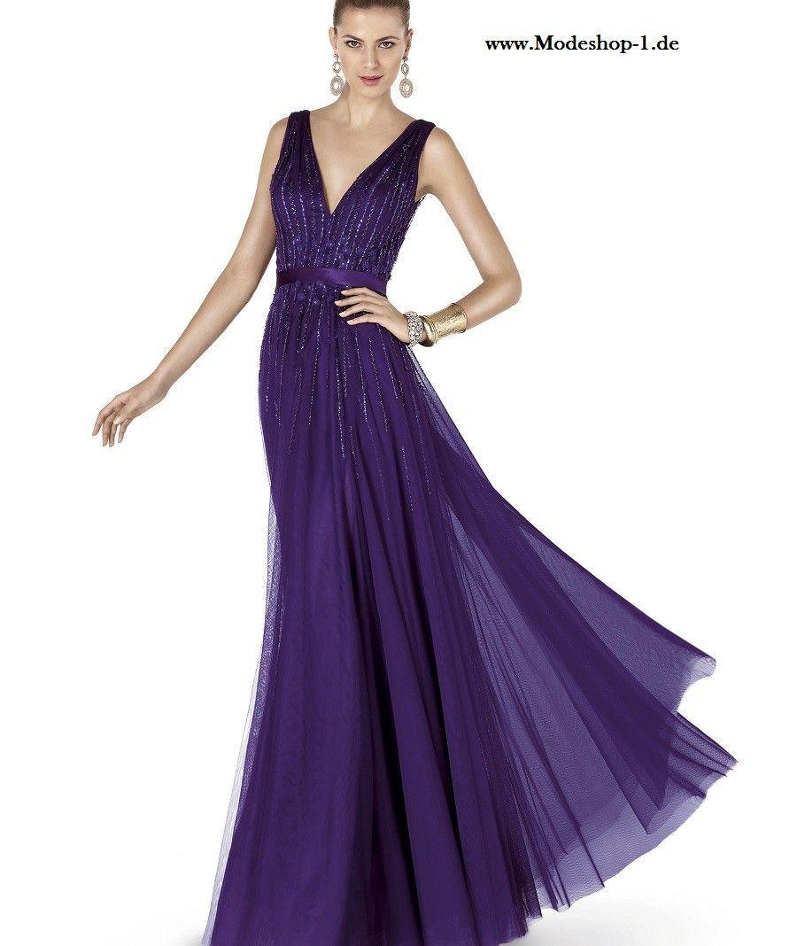 V Dekollette Abendkleid 11 in Dunkel Lila  Abendkleid