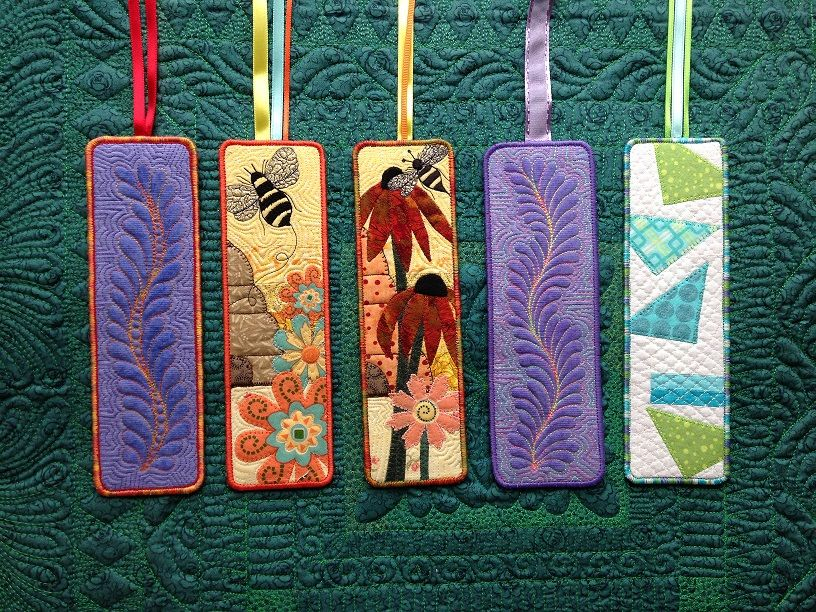 Quilted Bookmarks Small Quilt Projects Small Quilted Gifts Quilting Projects