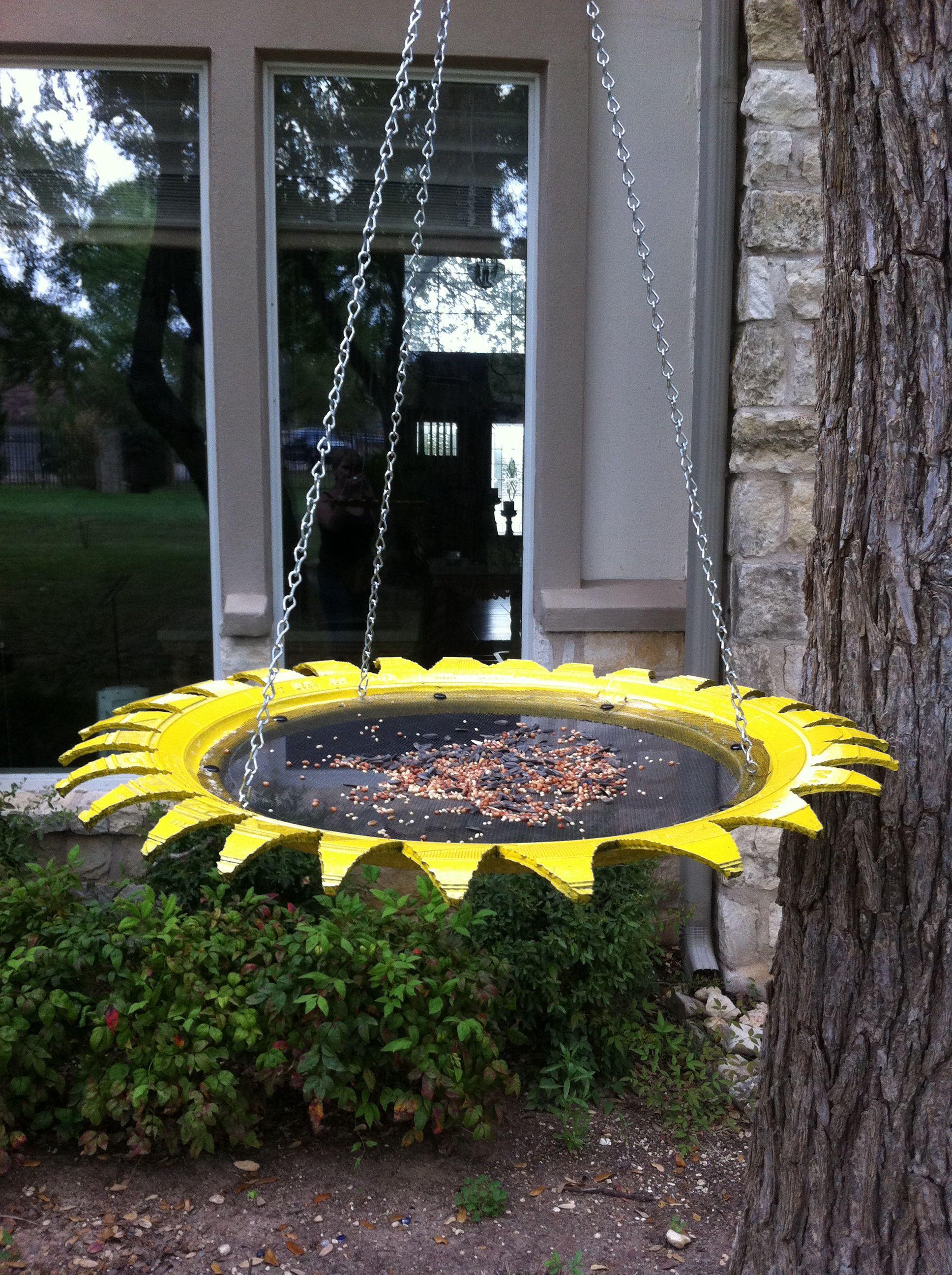Tire Bird Feeder Fun Projects Pinterest Bird Feeder