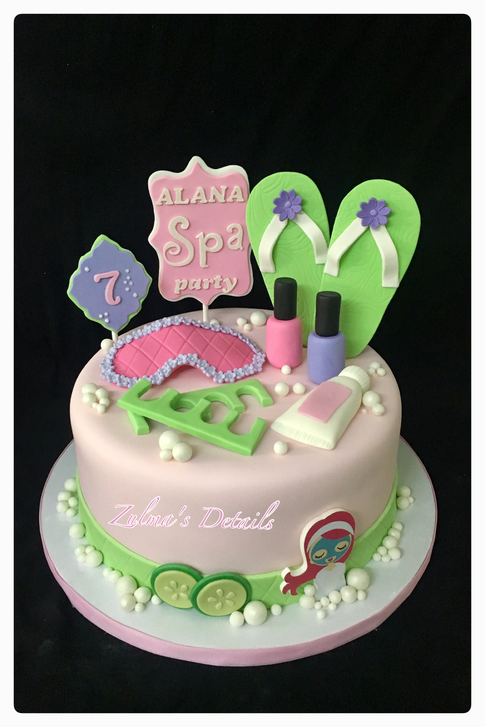 Girl Spa Kids Cakes Pinterest Spas And Girls