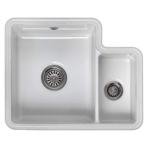 Reginox Tuscany 1 5 Bowl Ceramic Undermount Kitchen Sink Undermount Kitchen Sinks Ceramic Kitchen Sinks Ceramic Undermount Sink