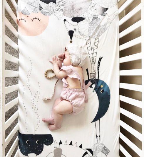 De jolies draps pour une jolie chambre de bébé L I T T L E