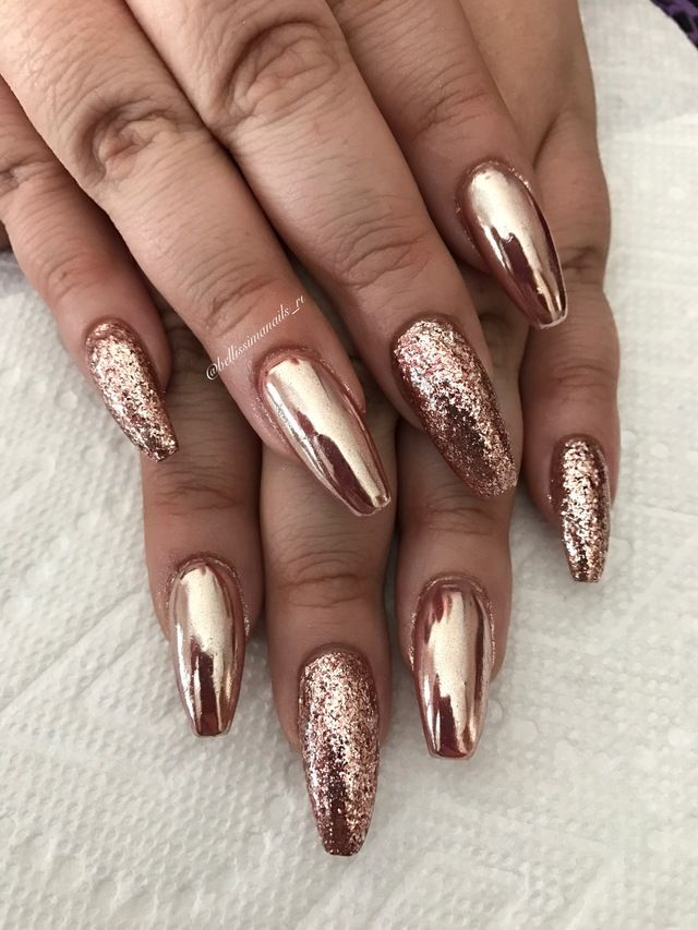 Bronze RANDOM CUT Glitter ideal for creating glitter nail art
