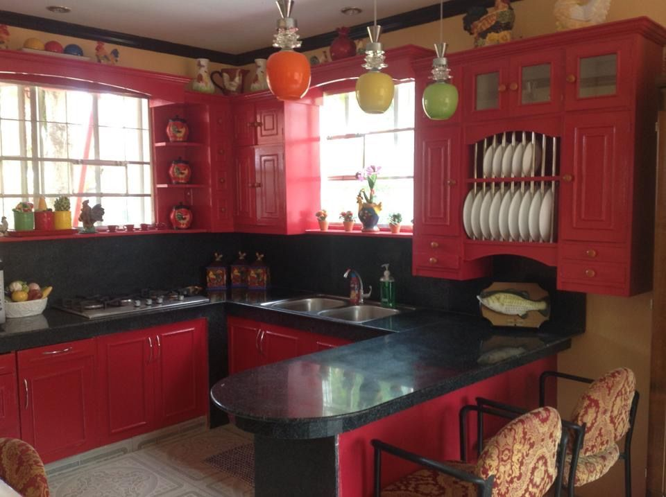 Pin by Nova Valencia on My red country kitchen   Red ...