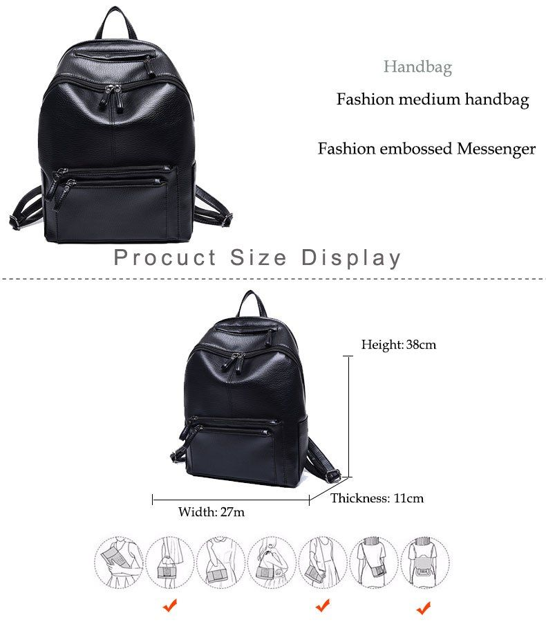 bba8cd42bb1e  28.52 - Cool Women Backpack High Quality PU Leather Mochila Escolar School  Bags For Teenagers Girls Vintage Top-handle Backpacks - Buy it Now!